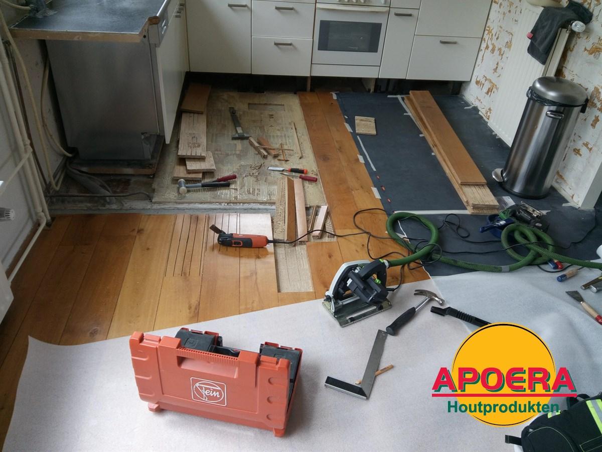 Eiken houten vloer repareren