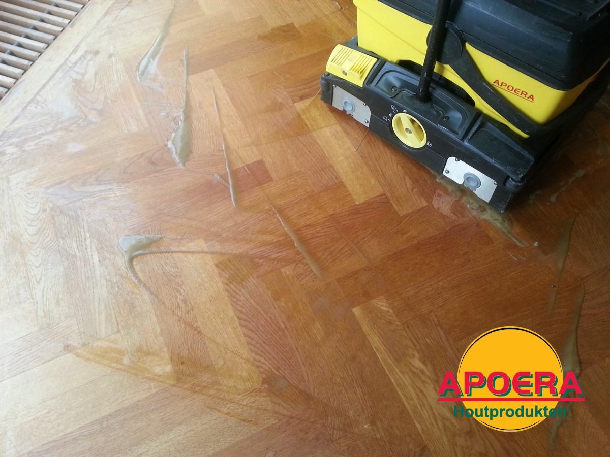 Power scrubber apoera houten vloer reinigen youtube